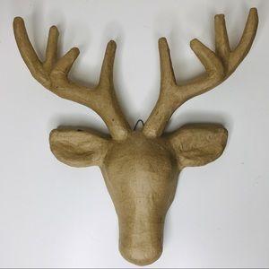Art Mind   Paper Mache Deer Head Set of 3 NWT